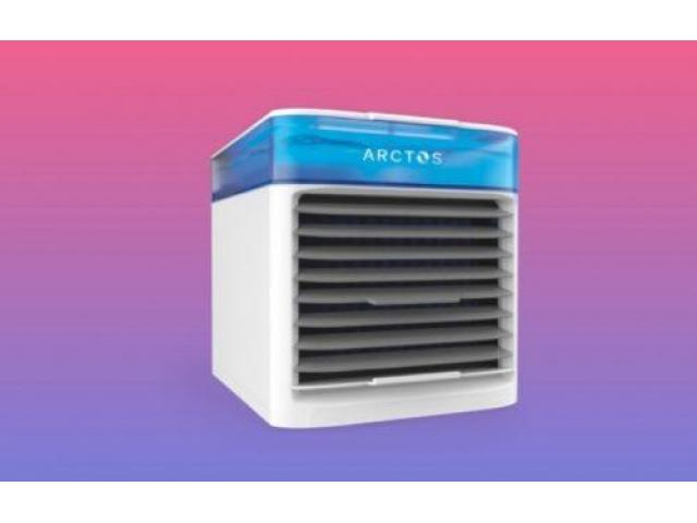 The is a small personal cooling humidifier that cools the